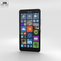 Microsoft Lumia 640 XL Glossy White 3D Model