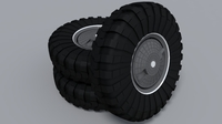 Wheels on BTR 80 3D Model