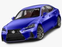 Lexus IS F-sport 2017 model 3D Model