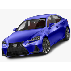 Lexus IS F-sport 2017 model 3D Model