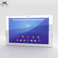 Sony Xperia Z4 Tablet LTE White 3D Model