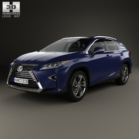 Lexus RX hybrid 2016 3D Model