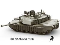 M-1 A2 Abrams  Tusk 3D Model