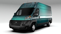 Ram Promaster Cargo 3500 H3 159WB EXT 2016 3D Model