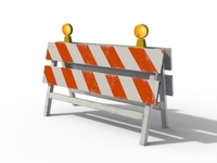 Construction Barrier 2 3D Model