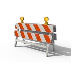 Construction Barrier 2 3D Model