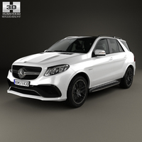 Mercedes-Benz GLE-Class (W166) AMG 2014 3D Model