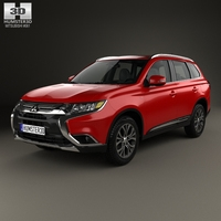 Mitsubishi Outlander 2015 3D Model
