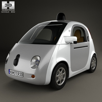 Google Self-Driving Car 2015 3D Model