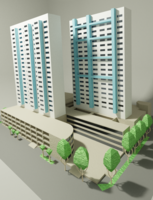 Bras Basah building 3D Model