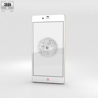ZTE Nubia Z9 Mini White 3D Model