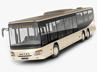 Setra S418LE business bus 3D Model
