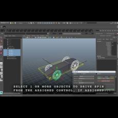 Spin / Drive Master 1.1.0 for Maya (maya script)