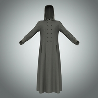 Men's Long Coat 3D Model