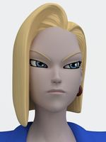 Android 18 RIgged 3D Model
