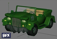 Cartoon styled Jeep 3D Model