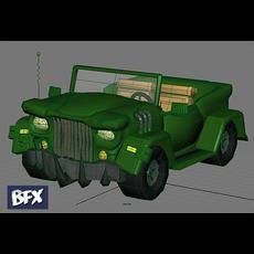 Cartoon styled Jeep 3D Model