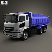 Mitsubishi Fuso Super Great Dump Truck 3-axle 2007 3D Model