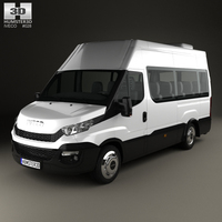Iveco Daily Minibus 2014 3D Model