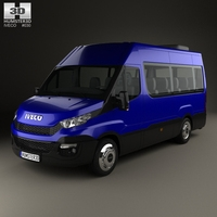 Iveco Daily Passenger Van 2014 3D Model