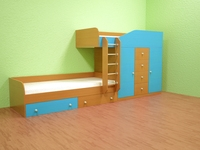 Childrens bed - M517 3D Model