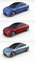 Tesla Model 3 Pack 3D Model