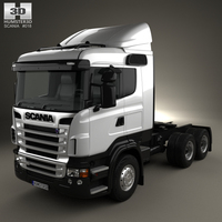 Scania R420 Tractor Truck 3-axle 2009 3D Model