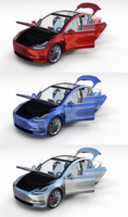 Tesla Model 3 with interior Pack 3D Model
