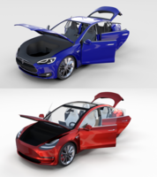 Tesla Model 3 and Model S with interior Pack 3D Model