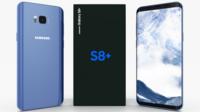 Samsung Galaxy S8+ Coral Blue 3D Model