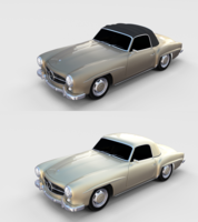 Mercedes 190SL Pack 3D Model