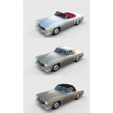 Mercedes 190SL with interior Pack 3D Model