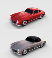 Mercedes 300SL Pack 3D Model