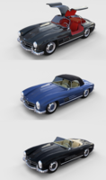 Mercedes 300SL with interior Pack 3D Model