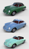 Porsche 356 with interior Pack 3D Model