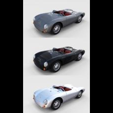 Porsche 550 Pack 3D Model