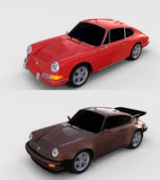 Porsche 911 Pack 3D Model