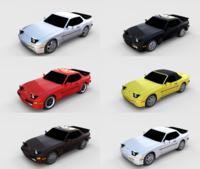 Porsche 944 Pack 3D Model