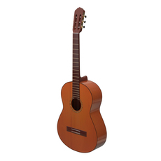 Classical acoustic guitar 3D Model