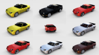 Porsche 944 with interior Pack 3D Model