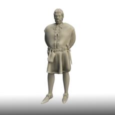 Medieval Man 3D Model