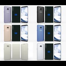 Samsung Galaxy S8 Pack 3D Model