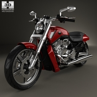 Harley-Davidson V-Rod Muscle 2010 3D Model