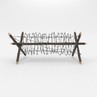 Barb Wire Obstacle 2 3D Model