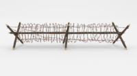 Barb Wire Obstacle 3 3D Model