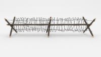 Barb Wire Obstacle 4 3D Model