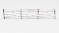 Barb Wire Obstacle 7 3D Model