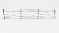 Barb Wire Obstacle 8 3D Model