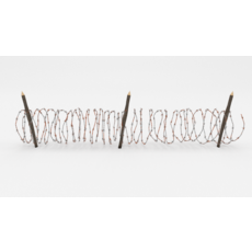 Barb Wire Obstacle 9 3D Model