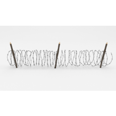 Barb Wire Obstacle 10 3D Model